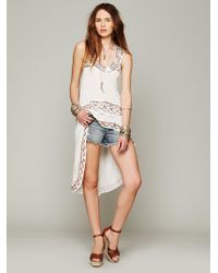 Free People Womens Fp New Romantics Moon Shine Embroidered Tunic - Lyst