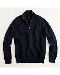 J.Crew Tall Cotton-Cashmere Half-Zip Sweater - Lyst
