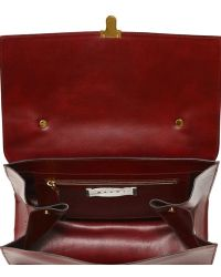 Marni Faux Leather Satchel - Red