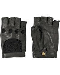 Nina Ricci Lace and Nappa Leather Gloves - Lyst