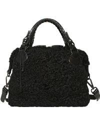 Pauric Sweeney - Overnight Astrakan Fur Top Handle Bag - Lyst
