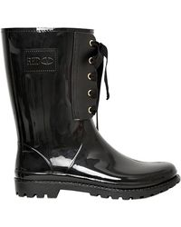 RED Valentino - 30mm Rubber Bow Boots - Lyst