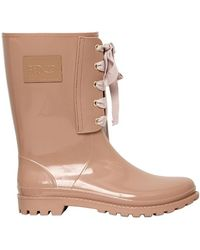 RED Valentino 30mm Rubber Bow Boots - Natural