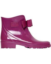 RED Valentino 30mm Low Rubber Rain Boots - Purple