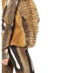 Roberto Cavalli Weasel Tricot Fox Fur Vest - Brown