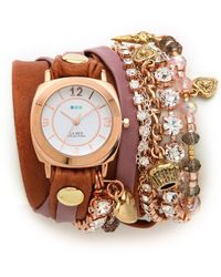 La Mer Collections - Champagne Stones Crystal Wrap Watch - Lyst