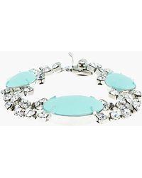 Tom Binns - Pastel Mint and White Crystal Madame Dumont Bracelet - Lyst