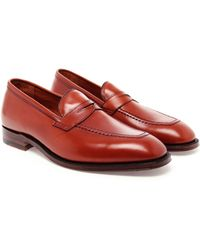 Alden Leather Penny Loafers - Lyst