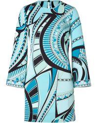 Emilio Pucci Silk Long Sleeve Dress - Lyst