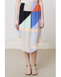 Anthropologie Geoblock Midi Skirt multicolor - Lyst