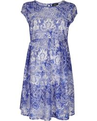 Topshop Maternity China Blue Flippy Dress - Lyst