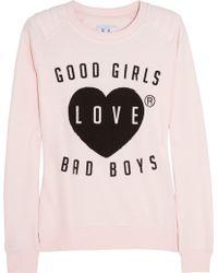 Zoe Karssen Good Girls Love Bad Boys Cotton blend Sweatshirt pink - Lyst