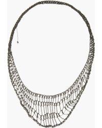 Arielle De Pinto - Oxidized Silver Handmade Midnight Lattice Collar Necklace - Lyst