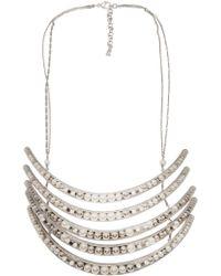 Delphine Charlotte Parmentier - Palladium Five Layer Necklace - Lyst