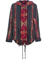 Jo No Fui - Patterned Hooded Jacket - Lyst