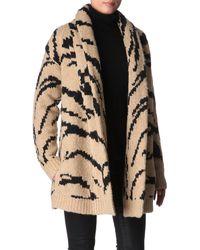 Juicy Couture Coat Long Sleeve Ziger Cardigan Coat - Natural