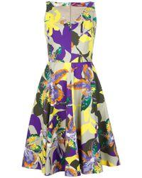 Max Mara Studio Multicolor Floral Dress - Lyst