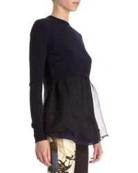 Acne Studios Women's Daze Mohair Off-the-shoulder Sweater In Smokey Blue