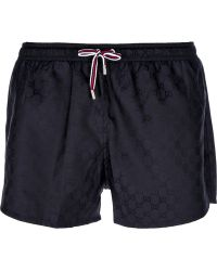 Gucci Monogram Swimming Shorts - Lyst