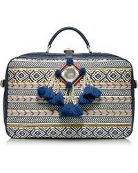 Tory Burch Priscilla Mochila Suitcase - Blue