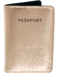 ASOS Passport Cover in Metallic