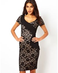 Hybrid Pencil Dress in Lace - Lyst