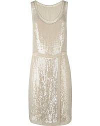 Jigsaw Sequin Dress - Metallic