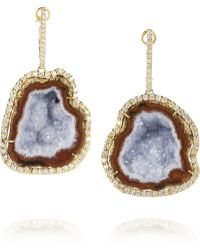 Kimberly Mcdonald - 18karat Gold Geode and Diamond Earrings - Lyst