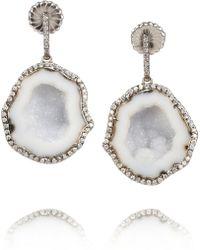 Kimberly Mcdonald - 18karat Blackened White Gold Geode and Diamond Earrings - Lyst