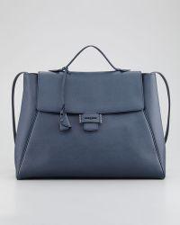 Myriam Schaefer Byron Saffiano Flap Handbag - Lyst