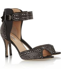 Valentino Studded Leather Sandals - Lyst