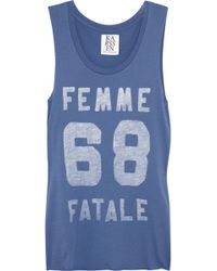 Zoe Karssen Femme Fatale Cotton Blend Tank - Blue
