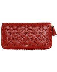 Anya Hindmarch Wilkes Zip Around Leather Wallet - Lyst