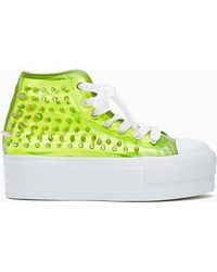 Nasty Gal Koop Spike Sneaker Neon Yellow - Lyst