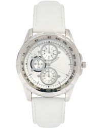 River Island Side Dials Watch - White