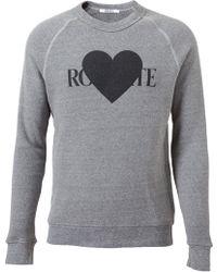 Rodarte - Heart Printed Cotton Blend Sweatshirt - Lyst