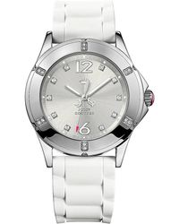Juicy Couture - Ladies Silvertone Swarovski Crystal Rich Girl Watch - Lyst