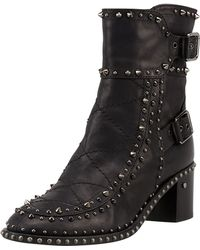 Laurence Dacade Badely Studded Double-Buckle Ankle Boot - Black/Rutenium (35.0B/5.0B) - Lyst