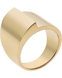 Michael Kors Goldtone Foldover Ring - Lyst
