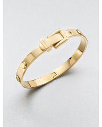 Michael Kors Astor Rivet Buckle Bangle Bracelet/Goldtone - Lyst