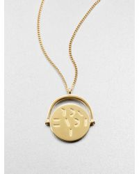 Mija - I Love You Spinning Charm Necklace - Lyst