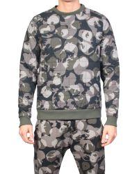 MSGM Sweatshirt Camouflage gray - Lyst
