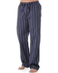 Naturally Vincent Striped Pyjama Bottoms - Blue