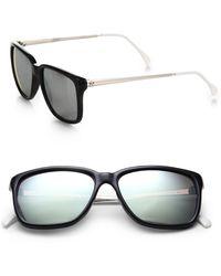 Sheriff & Cherry Oversized Mirror Square Sunglasses - Black
