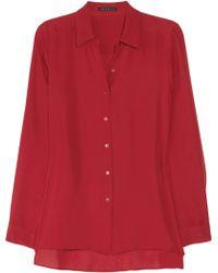 Theory Kissa Silk georgette Shirt - Lyst