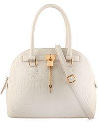 Aldo Frattapolesine Satchel Bag in White | Lyst