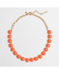 J.Crew Factory Brass-Plated Crystal Necklace - Lyst