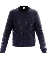 KENZO Quilted Leather Jacket - Black