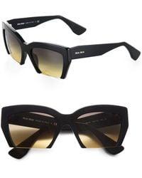Miu Miu Plastic Square Sunglasses - Lyst