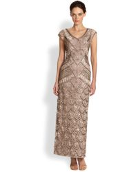 Sue Wong Sequin & Ribbon-Embellished Gown - Lyst